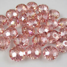 30pcs Faceted  Rondelle glass crystal #5040 6x8mm Beads water Red AB colors IZ1