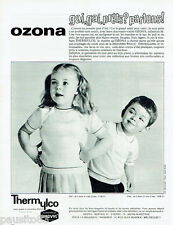 PUBLICITE ADVERTISING 115  1966   Les vetements enfants Rhovyl Thermylco  OZONA