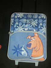 Blue SCOOBY DOO SUITCASE carry on travel rolling Luggage