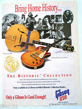"Affichette GIBSON USA guitare ""The Historic Collection"""