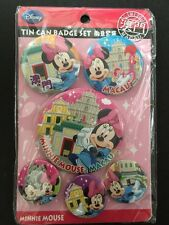Disney Minnie Mouse Vintage Hong Kong Pass holder Grand Opening Pin Set (New)