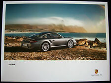 PORSCHE OFFICIAL 997 911 TURBO COUPE OCEAN SHOWROOM POSTERS 2010-2012