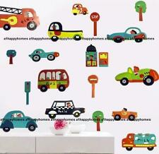 Transport Wall Stickers Fire Engine Police Train Plane Decal Art Kids Nursery