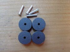 LIONEL 4 v 45 CARBON ROLLERS & 4 RIVETS for ZW & KW transformers FREE SHIPPING