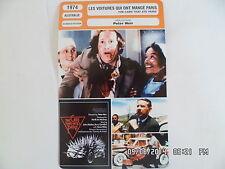 CARTE FICHE CINEMA 1974 LES VOITURES QUI ONT MANGE PARIS John Meillon