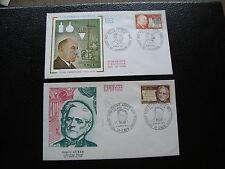 FRANCE - 2 enveloppes 1er jour 1971 (victor grignard/esprit auber) (cy85) french