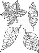 Personal Impressions Clear Stamps Zendoodle Leaves RTG by Lindsay Mason journal