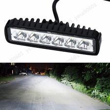 18W 6 LED Spot Work Light Bar Truck Driving Fog Boat Offroad Car SUV 4WD 6000K