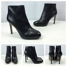 Via Spiga New Sexy Black Leather Ankle Boots Designer Booties Heels Sz 9 41 $295