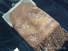ANTIQUE BEADED VINTAGE PURSE HANDBAG FRINGE 20s ACCESSORIES JEWELRY ART DECO ERA