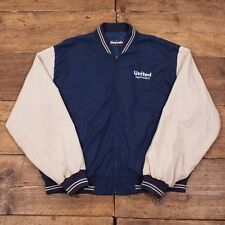 "Mens Vintage Blue College Varsity Bomber Jacket Mens XL 48"" - 50"" R2738"
