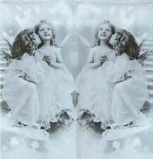 4 x Single Luxury Tissue for Decoupage and Craft Happy Angels handkerchiefs
