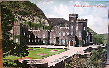 Irish Postcard GARRON TOWER Co. Antrim Coast Northern Ireland Valentine Dublin