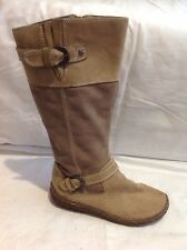 White Stuff Brown Mid Calf Leather Boots Size 5