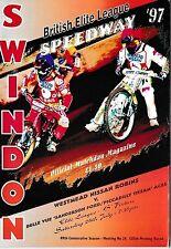 Speedway Programme>SWINDON ROBINS v BELLE VUE ACES July 1997