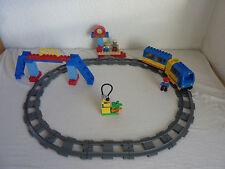 LEGO DUPLO VILLE Ferrovia-Starter Set 5608-e-Lok, STAZIONE FERROVIARIA-Top + istruzioni
