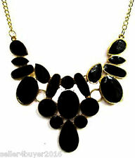 CosMos Handicrafts Partywear Black Meena Necklace for Girls/Women