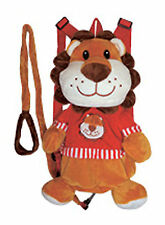 Kids Toddler Lion Backpack Walk Help Keeper Safety Anti-lost Harness w Leash