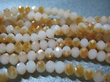 Chinese Crystal Beads 6mm Faceted Roundell 83 pcs Opalite/Peach
