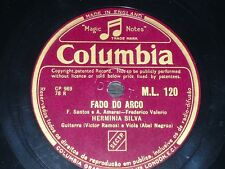 PORTUGAL 78 rpm RECORD Columbia HERMINIA SILVA Fado do Arco / O dia em que eu...