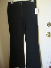 GUESS BY MARCIANO DRESS STRETCH FLARE PANTS (OFFICE, CASUAL): Sz.6 --  BLACK