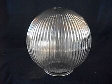 Clear Glass Globe Replacement Shade Diffuser Ceiling Light Round Ribbed 6.25""
