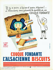 PUBLICITE ADVERTISING 016  1956  L'Alsacienne  couque fondante par M. Gauberti