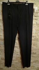 DOLCE&GABBANA BLACK LABEL DRESS PANTS, CHARCOAL GREY, SIZE ITALY 60/US 44