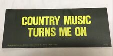 NOS 60's Country Music Turns Me On Sticker Greeting Card