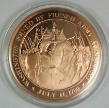 Bronze Proof Medal Washington Joined By French Army At Newport July 11 1780