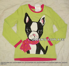 Nwt Gymboree Girls 4 4T Color Happy Green Puppy Dog T-shirt Top Pink Twins New