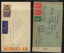 Great  Britian  2 censor covers, one with oragne tape    KL0401