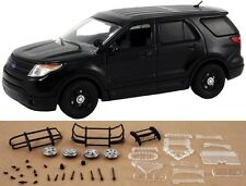 1:43 FIRST RESPONSE BLACK FORD INTERCEPTOR POLICE UTILITY W/DISPLAY CASE