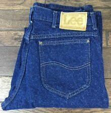 Lee Jeans Dark Indigo Denim 202 Union Made In The USA Men's 32x36 No Damage