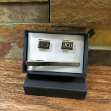 Personalized Cuff Links With TieClip-Groomsmen Gift- Tipo's Creations (cu04-t12)