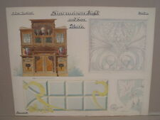 Antike Zeichnung Jugendstil Buffet Schrank um 1900 Tischler Schreiner Meister