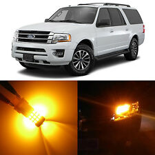 Alla Lighting Front Signal Light 3157NA Amber LED Bulb for 97~14 Ford Expedition