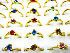 FREE Wholesale Lots 10pcs Crystal Of Rhinestone Gold Plated Rings J122