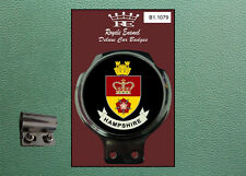 Royale Classic Car Badge & Bar Clip COUNTY of HAMPSHIRE B1.1079