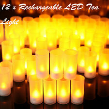 12pcs Rechargeable Candle Tea Lights Propose Wedding Xmas Home Family Decoration