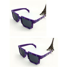 Pixel Sunglasses Geek Nerd Eye Glasses Fashion Halloween Party Accessory