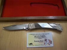 CUSTOM BUCK KNIFE 110 Michael Prater PAINTED PONY PROTO ~ MOTHER OF PEARL ~ 2007
