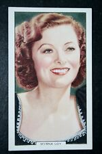 Glamorous Hollywood Movie Star   Myrna Loy    Vintage Card  VGC