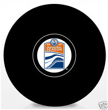 Edmonton Oilers 'Rogers Place'  Inagural NHL Autograph Model Hockey Puck - NEW