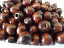 "100 x Coffee Round Wood Spacer Beads 8x6mm(3/8""x1/4"") (B18804)"
