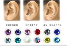 Weight Loss Stop Smoking Magnet Colored Faceted Crystal ear acupressure seed 20p