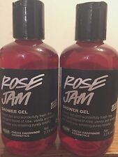 LUSH Handmade Cosmetics ROSE JAM Shower Gel Lot of Two 3.3 oz NEW