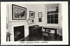 London Postcard - The Study, Dickens House    C146