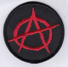 """50 Anarchy Symbol Anarchism """"A"""" Logo Embroidered Patches 3"""" Diameter"""
