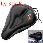 BIKE BICYCLE EXTRA COMFORT SOFT GEL SEAT SADDLE CUSHION COVER - BLACK